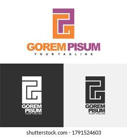 Digital logo type initial GP, suitable for logo name front Gxxx Pxxx or Pxxx Gxxx