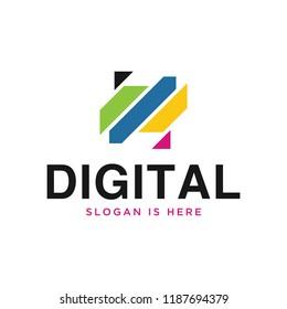 digital logo vector design template