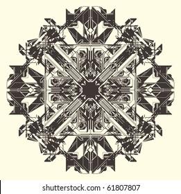 digital mantra vector illustration