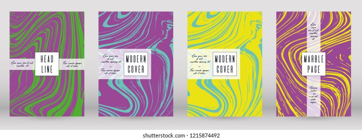 Digital Marble Cover Design for your Business with Abstract Lines. Futuristic Poster, Flyer, Layout with Liquid Pattern for Branding, Identity, Annual Report. Vector minimalistic brochure. Luxury.