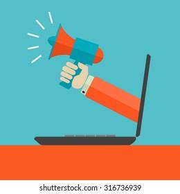 Digital marketing advertisement vector concept