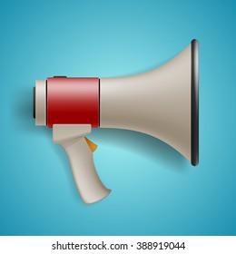 Digital marketing concept, megaphone for website, social media marketing concept and promotion banners, vector illustration.