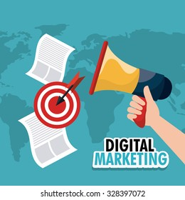 Digital marketing design, vector illustration eps 10