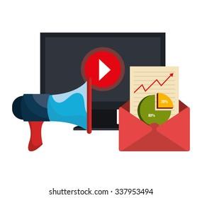 Digital marketing and ecommerce graphic design, vector illustration