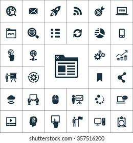 digital marketing Icons Vector set