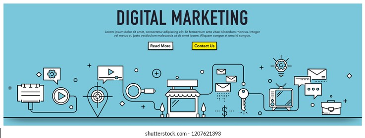 DIGITAL MARKETING INFOGRAPHIC CONCEPT