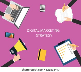 digital marketing strategy colaborate with team using media marketing to increase promotions , communication, and sales