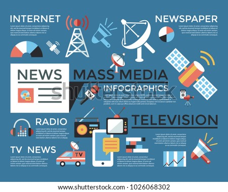 Stock vektory na téma Digital Mass Media Objects Color Simple (bez