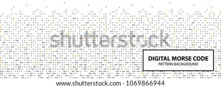 Digital Morse Code Pattern Design Inspiration Stock Vector Royalty Delectable Pattern Code