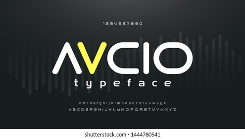 digital music modern alphabet and number fonts. Typography electronic dance music future creative font and numbers design concept. vector illustraion
