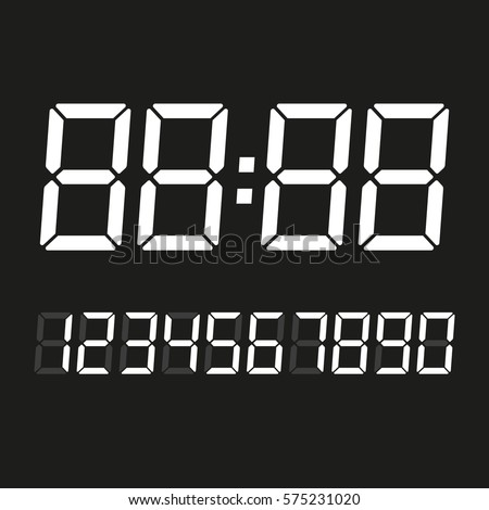 digital numbers template stencil stock vector royalty free