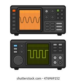 Digital Oscilloscope Set. Vector