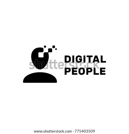 People Template | Digital People Logo Design Template Vector Stock Vektorgrafik