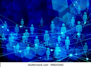digital people network blue