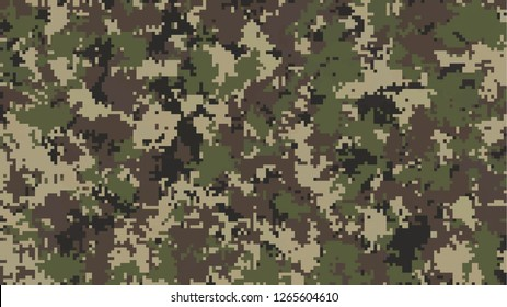 digital pixel camouflage. army wood land forest solider pattern