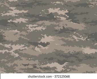 Digital pixel camouflage seamless pattern