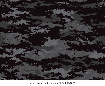 Digital pixel camouflage seamless pattern black