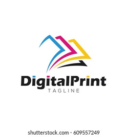 Digital print logo design template
