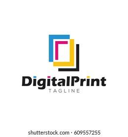 Digital print logo design template