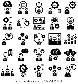 Digital processing Line vector icons pack every single icons can be easily modified or edit