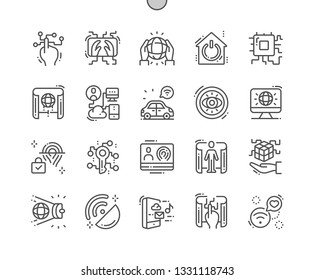 Digital reality Well-crafted Pixel Perfect Vector Thin Line Icons 30 2x Grid for Web Graphics and Apps. Simple Minimal Pictogram