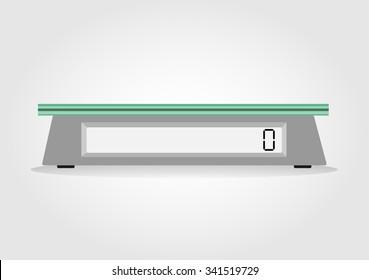 digital scale flat design