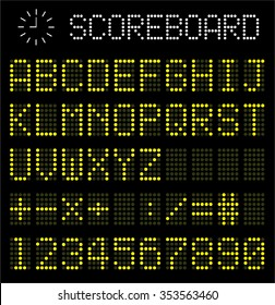Digital scoreboard,sports, airplane, competitions vector illustrator symbol