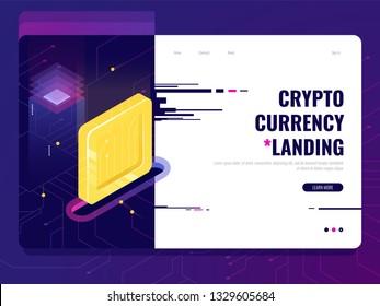 Digital service for money transfer and management, online bank, banking application, finance platform background, ultraviolet vector
