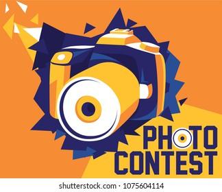 Digital SLR Camera with Photo Contest Unit