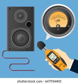 Digital Sound Level Meter with Analog Decibel Meter and Loudspeaker Measurement