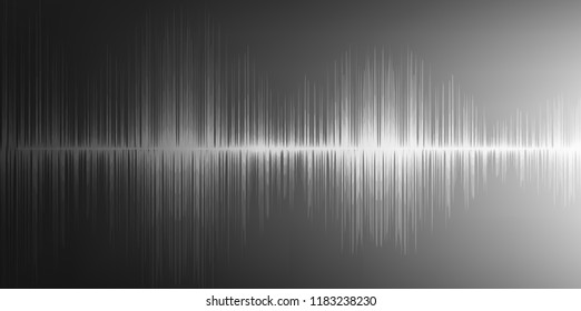 Digital Sound waves on gray background,technology and earthquake wave concept,design for music industry,Vector,Illustration.