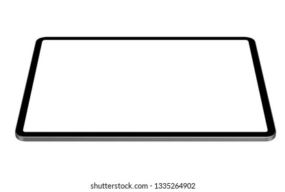 digital tablet vector drawing horizontal perspective angle view