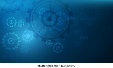 digital tech system innovative design concept background eps 10 vector