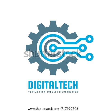 Digital tech vector business logo template stock vector royalty digital tech vector business logo template concept illustration gear electronic factory sign cog cheaphphosting Choice Image