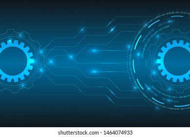 digital technological innovation abstract background. technology connection digital data and big data