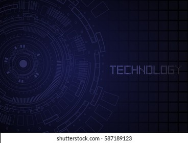 Digital technology abstract circuit circle bacground texture