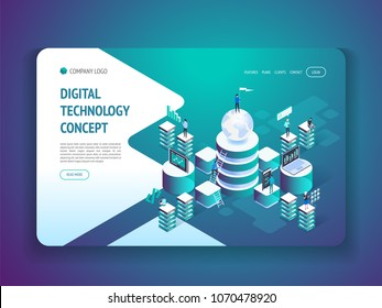 Digital technology concept Vector isometric illustration