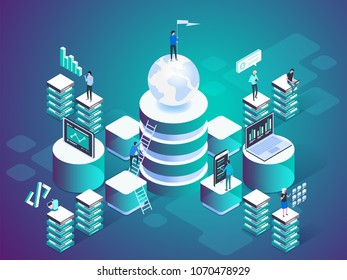 Digital technology concept Vector isometric illustration