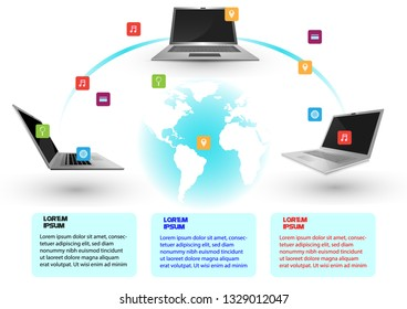 Digital technology infographic background
