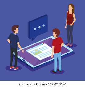digital technology with teamwork isometrics