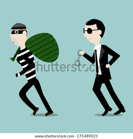 Digital Thief Stolen Data Stock Vector (Royalty Free