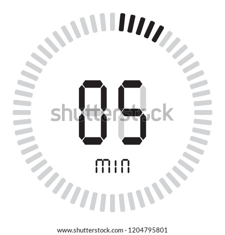 digital timer 5 minutes electronic stopwatch stock vector royalty