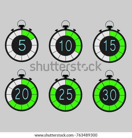 Digital Timer Accuracy Stock Vector (Royalty Free) 763489300
