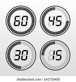 Digital timer black and white