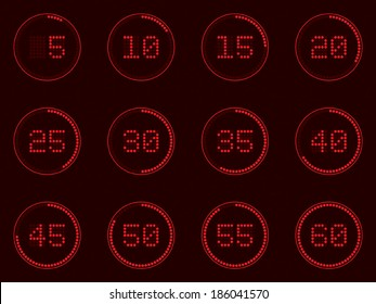 digital timer, dotted