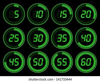 Digital timer green