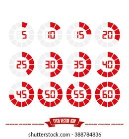 digital timer icon vector illustration eps10.