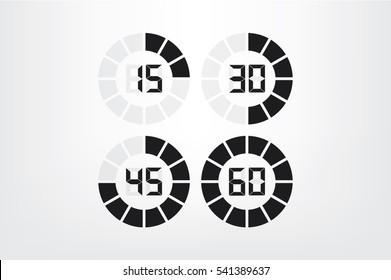 digital timer icon vector illustration.