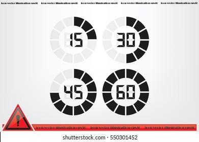 digital timer icon vector illustration eps10