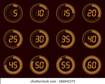 digital timer, lcd